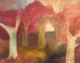 Fine art, Landscape, Tree, Forrest, Country, Original painting, Contemporary art, Figurative, Trees #1