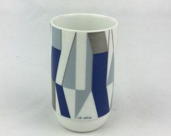 Op art vase, Vaserely hajek vase, Rosenthal vase, studio line, porcelain vase, midcentury porcelain, home decor, home and living