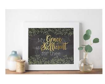 My Grace is Sufficient for Thee Printable
