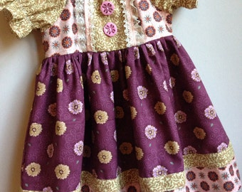 Size 24m/2t......Fall Dress......Made and ready to be shipped!!