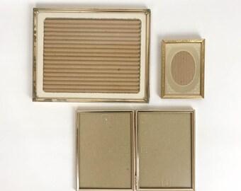 Vintage Brass Frames, Brass Frame Set, Brass Frame, 8x10, 5x7, 3x5, Vintage Frames, Tabletop Frames, Gold Frames, Brass Decor, Mid Century