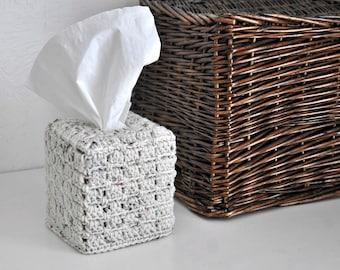 Square Tissue Box Cover Rustic Decor Home Decoration Woodland Nursery Granny Chic