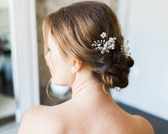 Bridal Hair Pins, Flower Hair Pins, Wedding Headpiece, Wedding Pins, Bridal Headpiece, Flower Headpiece, Wedding Hairpiece-Style 311- Blair