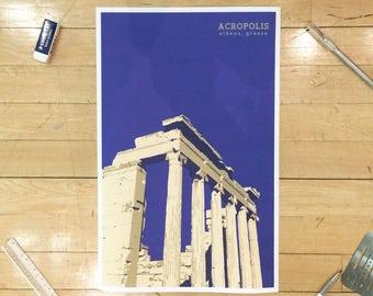 Acropolis Athens Greece Poster