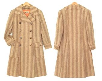 60s wool jacket * vintage tweed coat * 1960s mod coat * wool coat * double breasted jacket * m / l