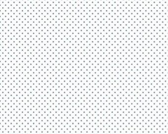 1 Yard- DENIM Swiss Dot by Riley Blake Designs- 660