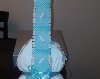 Blue & White Guitar  Diaper Cake