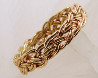 Handwoven Gold Filled Ring