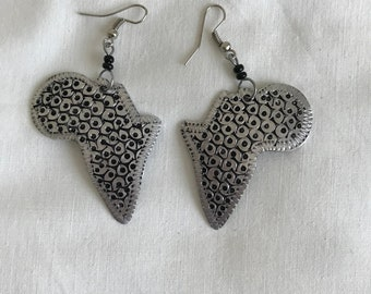 Lady African Aluminum Earrings