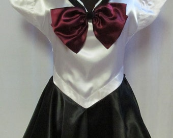 Sailor Moon Pluto Scout Costume Cosplay Outer Senshi Adult Women's Custom Fit Size 4 6 8 10 12 14