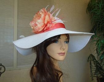b09044e5 get coral kentucky derby hat 1dc4b e1ada
