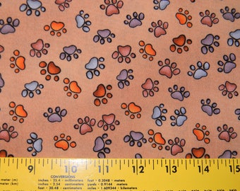 Puppy Paws Cotton Fabric by Loralie Designs