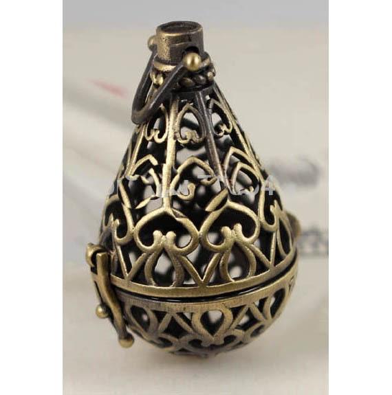 Filigree Brass Glow Pendant, LED light inside brass filigree pendant, glowing pendant, lighted pendant. firefly light pendant