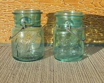 2 Pint Blue Ball Ideal Jars (1 of them is a Bicentennial)