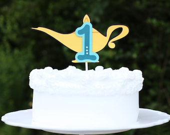 Aladdin Jasmine Genie (Arabian) - Cake Topper - Lamp With Age