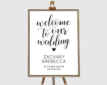 Printable wedding signs printable, Editable pdf, Instant download, Welcome sign wedding, Rustic wedding signs, Printable wedding signage