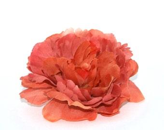 Harvest Orange Peony - Boutique Quality - Artificial Silk Flower