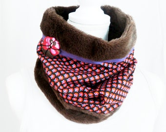 snood fabric and fur winter pop