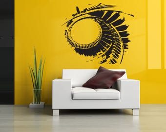 Wall Art Vinyl Sticker Spiral Staircase Steps Levels Upstairs Building Plan Poster ZX108