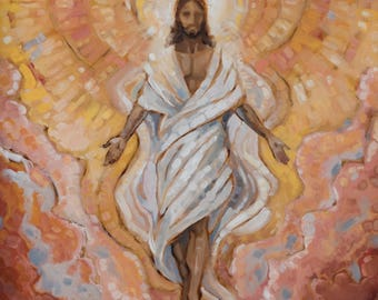 Christ Painting Print: With Shout Of Acclamation