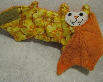 Hawai'ian Flowers Bat Stuffed Animal, Coffee Cozy, Cup Sleeve
