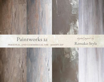 Paintworks 21 Hand Painted Textures Digital Backgrounds