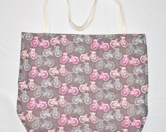 Bicycle Reusable Canvas/Cotton Tote Bag
