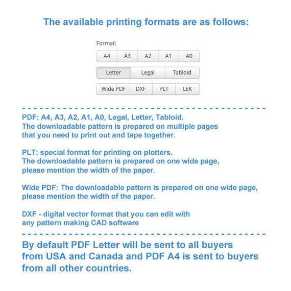 Lekala 4478 PDF Muster Nähmuster PDF Maßgeschneiderte