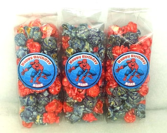 Spiderman Popcorn Party Favors