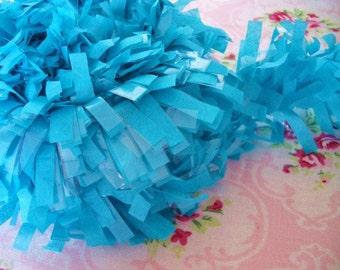 Tissue Garland Festooning Fringe - Turquoise - 2 inch - 1 Yard