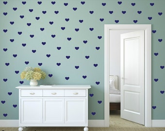FREE SHIPPING Wall Decal 280 Blue Hearts. Nursery Wall Decal.Wall Art. Wall Paper.Vinyl Wall Decal. Diy Wall Decal.