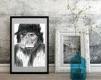 Surprise Portrait, Original, Zeichnung, illustration