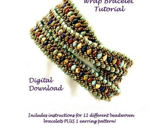 2 Hole Bead Tutorial for Wrap Bracelet, Dangle Earrings, and More