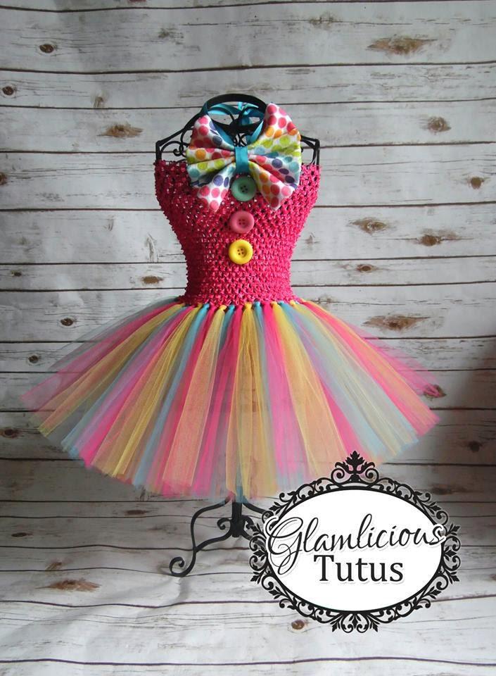 Clown Tutu Kleid Kostüm Clown-Kostüm Halloween-Kostüm