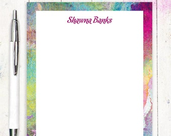 personalized notePAD - ABSTRACT ART 1 - modern stationery - colorful stationary - letter writing paper