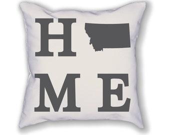 Montana Home State Pillow