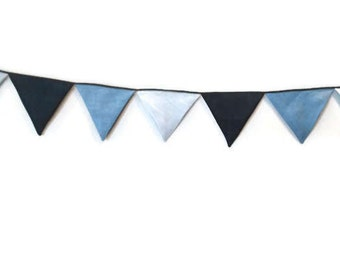 blue bunting- flag, garland for Teepee, tent flag, camp flag, banner, kids teepee bunting
