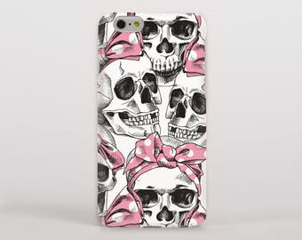 Skulls and Pink Bows Hipster Phone Case/Cover for iPhone Case/Cover (iPhone 8 Case/Cover) or Samsung Phone Case/Cover - FREE UK Delivery