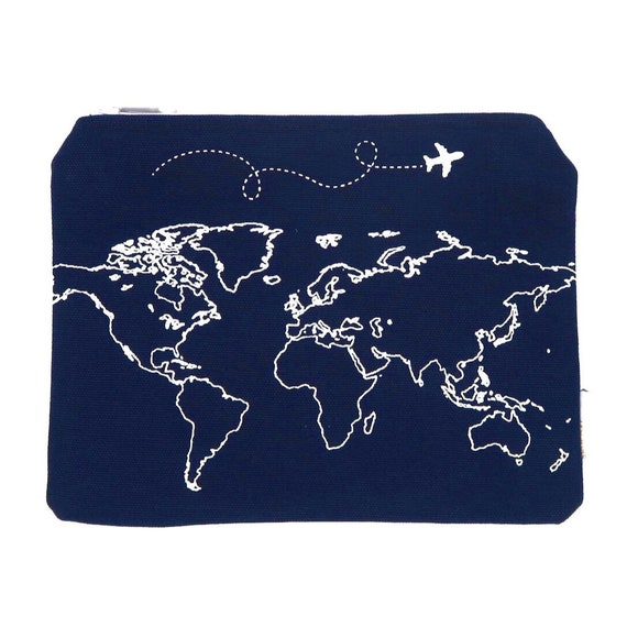 Navy map travel wallet travel pouch passport holder world navy map travel wallet travel pouch passport holder world map makeup bag map gift passport wallet travel wallet travel gifts gumiabroncs Images