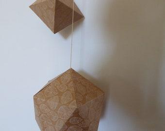 Decorated craft origami pendant