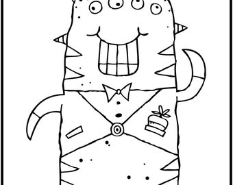 ALIENS PAK THREE / 5 Coloring Pages for Kids! Black and White Download
