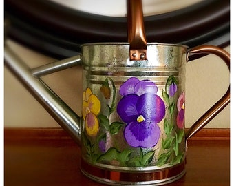 Pansy Watering Can, medium