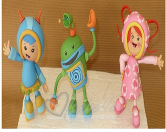 Team Umizoomi topper Cold porcelain