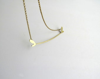 minimalistic ''Hearted bone'' necklace
