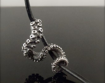 SALE - OctopusME Slider Pendant, Tentacle pendant, Octopus Jewelry, leather Tentacle Slider, Octopus Jewelry, jewelry, ste