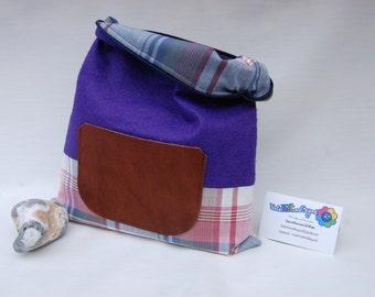 Wool felt clutch, handbag