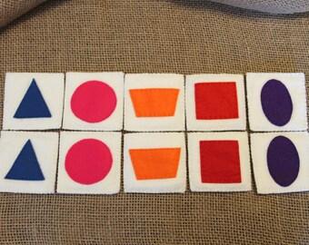 Felt Shape Matching Game • Montessori • Creative Play • Hand Sewn