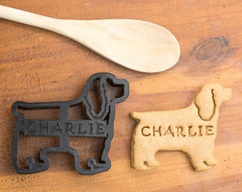 Cocker Spaniel Cookie Cutter Custom Treat Personalized Pet