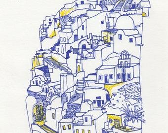 Mykonos Illustration