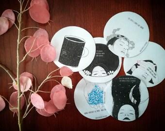 Stickers Sketchart-Set of 3 adhesives of choice